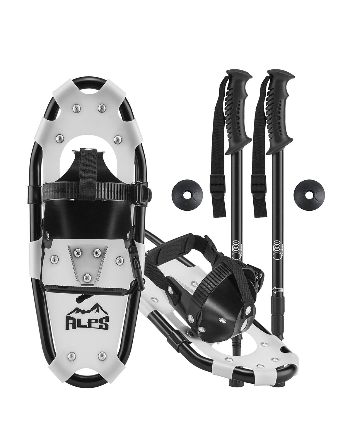ALPS Kids Snowshoes For Youth&Boy&Girl+Optional Snowshoe Poles+Free bag  14 17 19  in stock