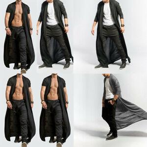 Men Adult Long Cardigan Length Cloak New Tops Baggy Cape Coat Loose Full Casual