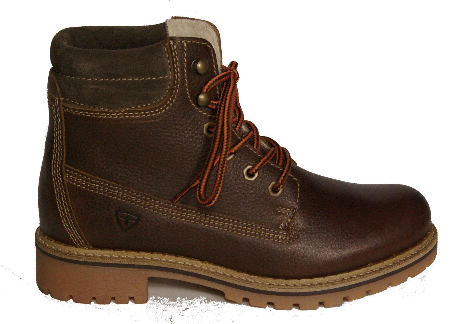 Tamaris skor Lace Up Boot Trek King stövlar Real läder läder läder bspringaaa ny  motverka äkta