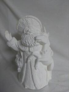 Santa-with-Unicorn-10-034-Ceramic-Bisque-Ready-To-Paint