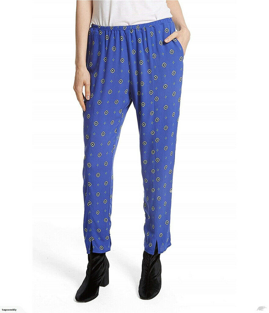 Free People Womens Shirt Up OB656313 Pants Patterned bluee Combo bluee Size XS