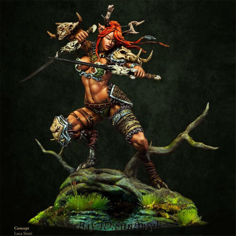 1 24 Sci-fic Female Warrior Resin Kits Unpainted Figure Statue GK Unassemble 155