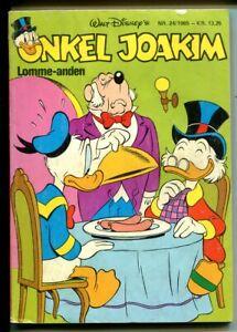 Onkel Joakim #24 1985-Disney-Danish-Uncle Scrooge-Carl Barks-Mickey Mouse-VG