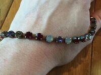 Sabika Rhinestone Red Blue Purple Yellow Bracelet Rare Retired