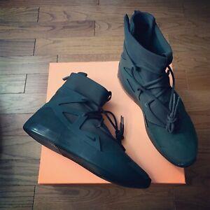 Nike Air Fear Of God 1 Triple Black   eBay