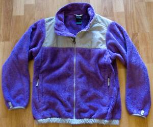 00efd8d02 Details about Girls The North Face Denali Full Zip Sz L 14/16 Jacket Purple  Fleece Thermal
