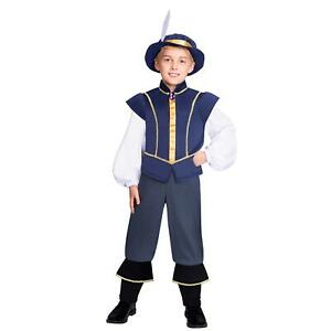 Boys Tudor Costume Historical King Prince World Book Day Week Fancy Dress Outfit