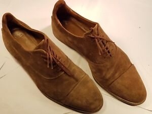 ZARA MAN Mens Suede Brown Lace Up Shoes