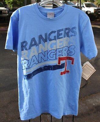 Baseball & Softball ZuverläSsig Texas Rangers Baseball Mlb Herren Cooperstown Sammlung Hellblau T-shirt Nwt-s
