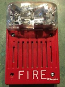SIMPLEX 4903-9146 25 volt 400-4000 hz 15cd speaker strobe