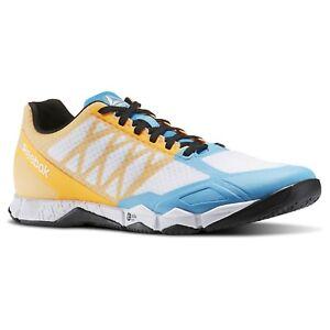 16b268961bb7 Reebok Mens CROSSFIT SPEED TR Fitness Shoes White   Blue bd5494 New ...