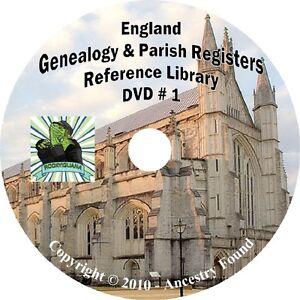 Details about 326 books ENGLAND Genealogy Parish Registers History on 3 DVDs