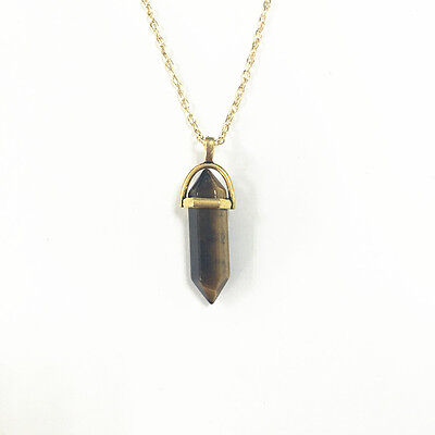 Gemstone Pendant for Necklace Natural Quartz Crystal Point Chakra Healing Stone