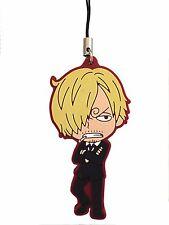 One Piece PVC Strap Keychain Charm New World Dressrose Black Leg~ Sanji @OP00001