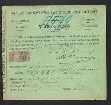 PARIS (IX° Arrt.) Cie PARISIENNE d'ECLAIRAGE & CHAUFFAGE par le GAZ 1897