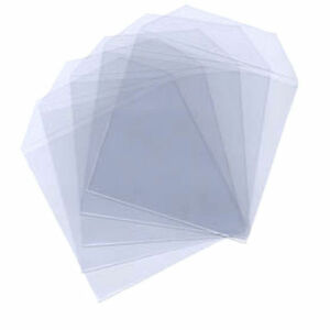 100-Clear-Plastic-CD-DVD-Blu-ray-Covers-Sleeves-Case-Wallet-Envelopes-80-Micron