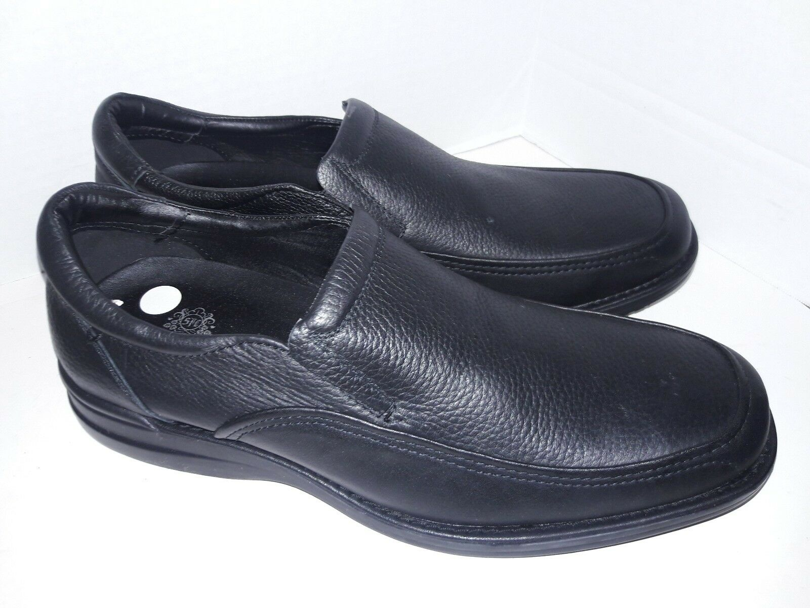 shoes For Crews SFC 1022  Dylan  Black Leather Loafers Mens Slip Oil Resistant S