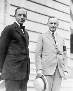 CALVIN-COOLIDGE-amp-EDWARD-T-CLARK-PORTRAIT-8x10-SILVER-HALIDE-PHOTO-PRINT