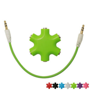 5-Way-3-5mm-Jack-Multi-Headphone-Headset-MP3-Hub-Audio-Splitter-Adapter-NEW-US