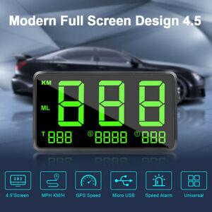 GPS-Para-Auto-De-4-5-034-velocidad-de-tiempo-real-Velocimetro-HUD-Head-Up-Visualizacion-de-aviso-de