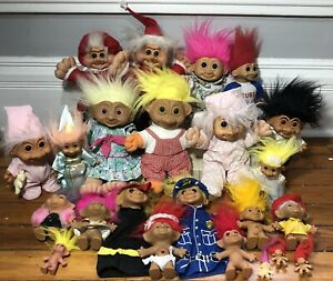 Vintage-Troll-Lot-Large-And-Small-Vintage-To-Modern-Soma-Russ-Ace-Treasure