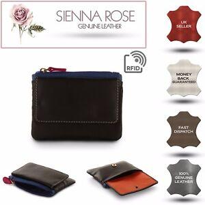 Sienna-Rose-RFID-Small-Soft-femmes-cuir-veritable-noir-multi-Designer-Sac-a-main
