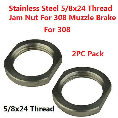 Designed for Repeated Use Armorer/'s Wrench 2PC Muzzle Brake Lock//Jam Nut 5//8x24