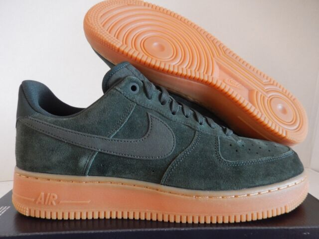 Nike Air Force 1  07 Lv8 Suede Mens Aa1117-300 Outdoor Green Gum Shoes Size  10.5 ba7f51867