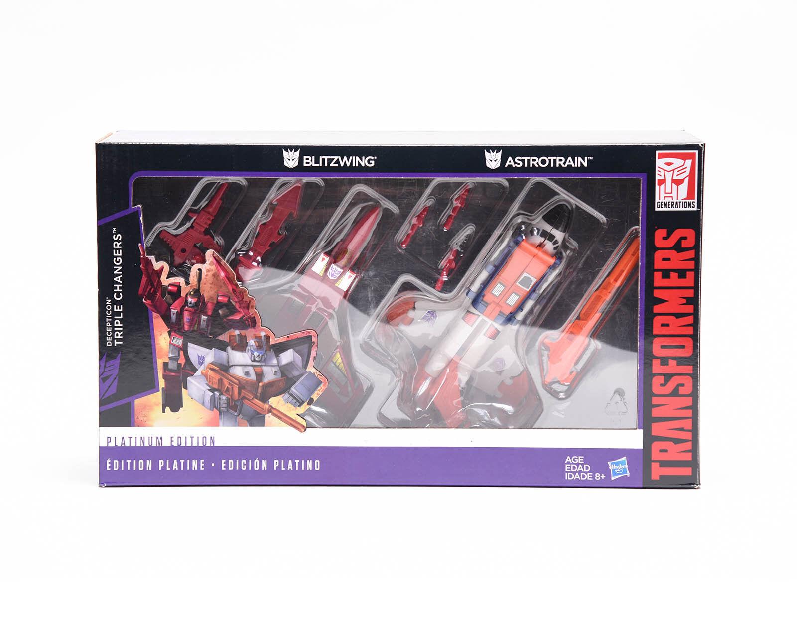 Mejor precio Transformers Hasbro G1 G1 G1 K.O. Platinum Edition Astrojorain Blitzwing Cambiadores Triple  mejor reputación