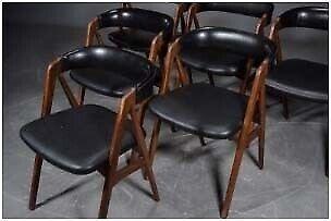 Spisebordsstol, Teaktræ, Farstrup Møbelfabrik
