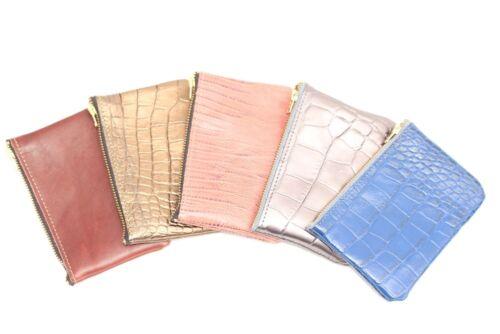 Leder Damen Portemonnaie Geldbörse Geldbeutel Börse Wallet Blau Handarbeit