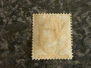 MALTA-POSTAGE-STAMP-SG4-PERF-14-ONE-HALF-PENNY-WMK-CROWN-CC-MOUNTED-MINT