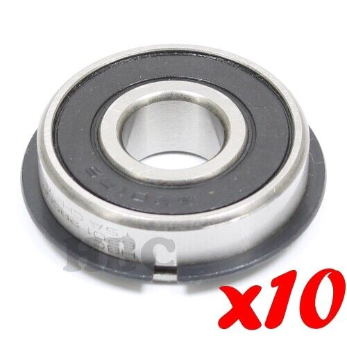 10 x Radial Ball Bearing 6201-2RSNR w// 2 Seals /& Retaining Ring 12x32x10mm