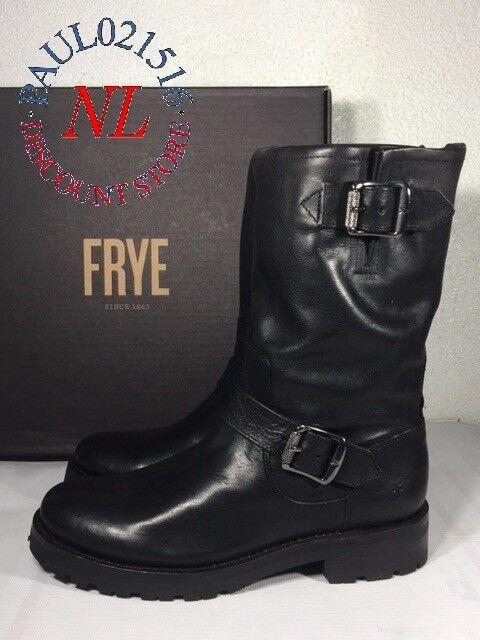 FRYE Womens Natalie Mid Lug Engineer Boots ~ Black ~ Various Sizes ! !