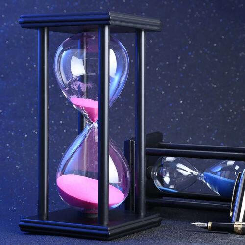 30 Minuten Holz Sand Mode Glas Sanduhr Timer Innenministerium Dekor