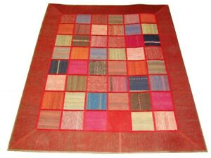Brand New Modern Persian Patchwork Kilim Rug