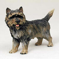 Cairn Terrier Hand Painted Collectible Dog Figurine Statue Brindle