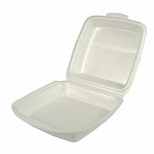50 Menüboxen Weiß Laminiert Ungeteilt Papstar Einwegschalen Imbissbox Lunchbox