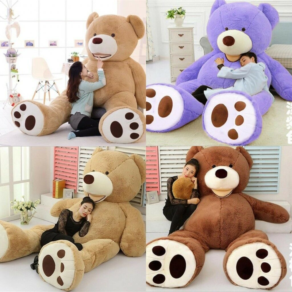 Popular Large AmericaTeddy Bear Plush Soft Toy Doll Gift (ONLY COVER) 60-340CM