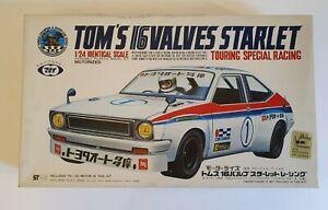 TOKYO MARUI TOM'S 16 VALVES STARLET TOURING SPECIAL RACING  1/24 MODEL KIT