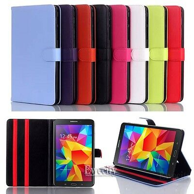 Folio Colors Leather Stand Case Cover For Samsung Galaxy Tab 4 8.0'' SM T330