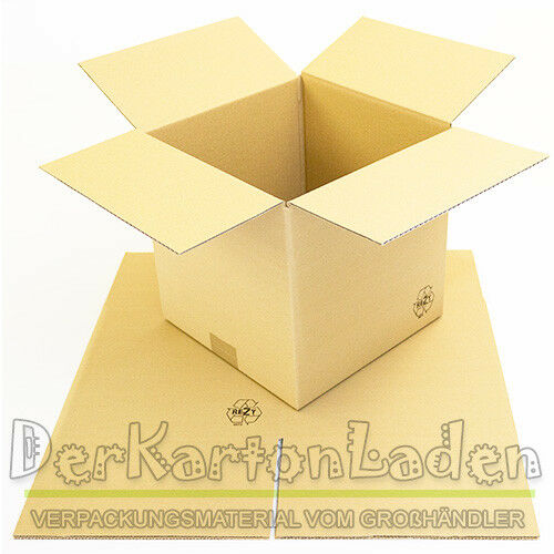 200 x Versandkartons 250 x 250 x 250 mm Faltkarton 1 wellig Karton braun