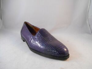 Giorgio-Brutini-Purple-Snake-Skin-Slip-On-Loafers-Shoes-Men-039-s-Sz-9-5-M
