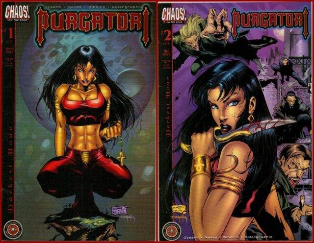 Lot Of 2 PURGATORI DARKEST HOUR 1-2 Complete 1 2 Chaos Comics Horror 2001