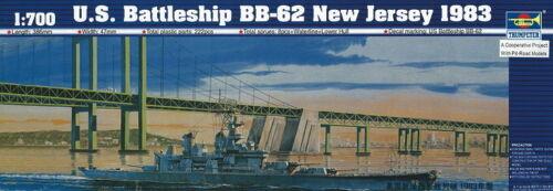 Trumpeter 05702-1:700 Schlachtschiff USS New Jersey BB-62 1983 Neu