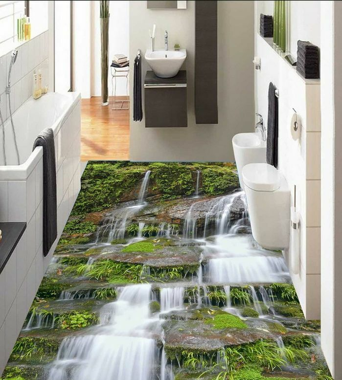 3D water stone Grün3616 Floor WandPapier Murals Wand Drucken Decal 5D AJ WandPapier