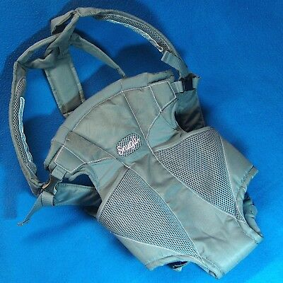 K504e Evenflo Snugli Soft Baby Carrier 0441847 Gray Backpack Adjustable No Box Ebay