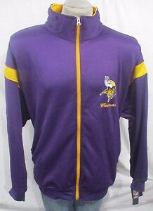 promo code 4bb7d 07726 Details about Minnesota Vikings Men 3XL, 4XL, 5XL Full-Zip Cloth Track  Jacket NFL Purple A14