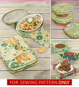 Details about SEWING PATTERN~MAKE CASSEROLE  CARRIER~COOKING~FOOD~TOTE~POTLUCK~BOWL COVER~GIFT