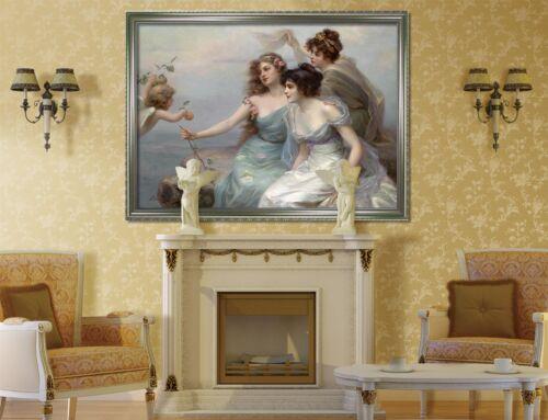 3D Angel And Girls 8 Framed Poster Home Decor Print Painting Art AJ WALLPAPER